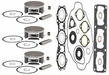 3 SPI Pistons Bearings & Full Gasket Kit Polaris Indy 600 XLT 1995 1996 1997