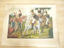 EUGENE DE BEAUHARNAIS donnant des décorations 1820 ORIGINAL hand color