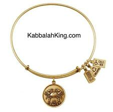 Wind & Fire Zodiac Cancer Charm Gold Expandable Bangle Bracelet Made In USA