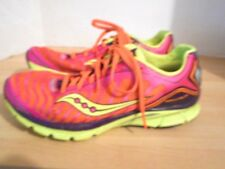 Womens SAUCONY Kinvara 3 Synthetic Running Shoes U.S. 8.5 Neon Pink Green Orange