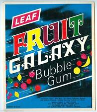 Vintage Fruit Galaxy Leaf Gum Ball Machine Vending Display Card 1970s NOS New