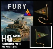 1/16 Scale Rc U.S. (Hell on Wheels) FURY Pennant for Heng Long / Tamiya Tanks