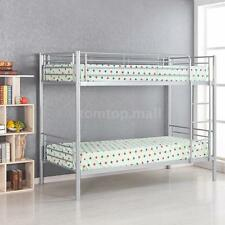 Twin Over Twin Bunk Bed Metal Kids Bunkbeds Loft Ladder Bedroom Furniture R3E4