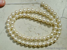 "Natural Pearl Fresh Water 6-6.5mm Round Beads 16"" A++"