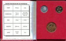 CARTERA E-87 III Exposición Nacional Numismática Proof 1 + 200 Pesetas