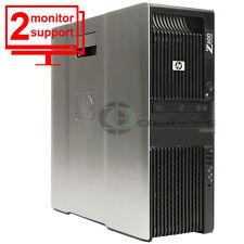 HP Z600 Computer Desktop x2 Intel X5570 2.93Ghz 8GB RAM NEW 1TB HDD Win10 Pro