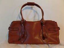 Vintage Cole Haan Mod Brown Leather Doctor Purse Bag with Dust Cover