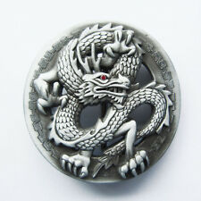 Men Belt Buckle Red Rhinestone Eye Classic Dragon Belt Buckle Boucle de ceinture