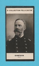 MILITARY  -  FELIX  POTIN  OF  FRANCE  -  ADMIRAL  SAMPSON  -  1908