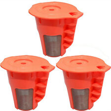 3 Pack Keurig 2.0 Refillable K-Carafe Reusable Coffee Filter Replacement Orange