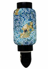 Blue Hand Fan Oriental Japanese Washi Night Light Lamp Candle Home Decor Gifts