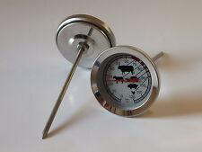 Räucherthermometer 120 Grad, Edelstahl, Räucherlauge, Räucherhaken