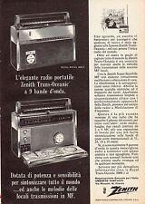 Pubblicità Advertising Werbung 1964 radio portatile ZENITH Trans-Oceanic