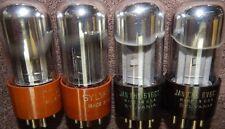 4  NOS AMAZING 6V6 VINTAGE TUBES 2 MATCH PAIRS SYLVANIA HIGH GRADE VT-107A 6V6GT