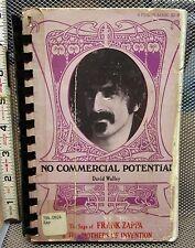 FRANK ZAPPA No Commercial Potential beat-up rock book 1972 David Walley original