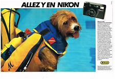 Publicité Advertising 1984 (2 pages) Appareil Photo Nikon L35 AF