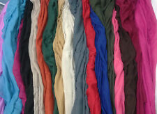 Job lot of 10 Plain Maxi Hijab Shawl Fashion Scarf at wholesale Eid Offer