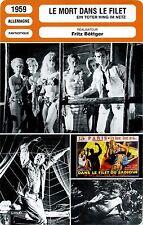 Movie Card Fiche Cinéma. Le mort dans le filet/Ein toter hing im netz 1959 (All)