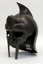GLADIATOR HELMET ANTIQUE - MEDIEVAL KNIGHT CRUSADER - ARMOR HELMET - GLADIATOR