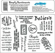 Simplemente sentimientos conjunto de sellos de goma desmontado Creative Expressions A5
