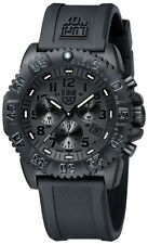 Luminox New 3081.BO Navy Seal Colormark Chronograph Black Out Rubber Mens Watch