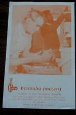 Bermuda Pottery, Home of Bermuda Ceramics, Vintage Informational Tour Flyer