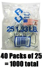 40 ea Chicago Heights M005FAST25RG025 25 Packs T-Post Fence Post Clip / Fastener