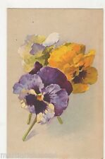C. Klein, Flowers, Pansies, no. 1112 Art Postcard #2, B465