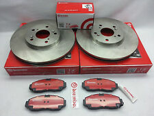 02-06 Acura RSX Base BREMBO Front Brake Rotors & Ceramic Brake Pad 25830 P28023N