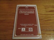 VINTAGE 1980 OLDSMOBILE TORONADO OWNERS MANUAL