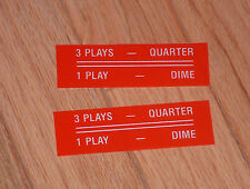 Seeburg 3 Plays for a Quarter 1 Play a Dime inserts
