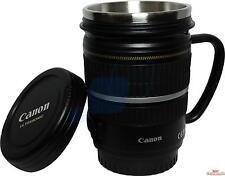 Camera EF Lens cup coffee/tea Mug Gift /w stainless steel insert with lid new
