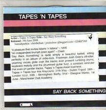 (CO64) Tapes 'N Tapes, Say Back Something - 2008 DJ CD