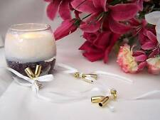 24 Mini gold Champagne Flute Wedding/anniversary/ Favours / Table Decoration