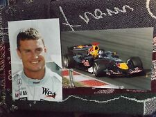 "COLLECTION OF 2 x 12"" x 8"" DAVID COULTHARD F1 PHOTO PRINTS - MCLAREN RED BULL"