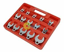 "15pc Crow Foot Spanner Set 3/8"" Drive Crowfoot Socket Wrench Heads 8 - 24mm New"