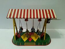 Vintage Tin Wind Up Toy Boat Carnival Swing JW Altes Germany