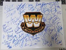 Roddy Piper Hulk Hogan Bret Hart Diesel + WWE Legends Signed 16x20 Photo PSA/DNA