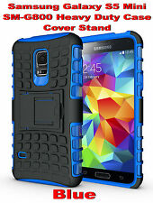Blue Samsung Galaxy S5 Mini G800 Strong Heavy Duty Tradesman Case Cover Stand