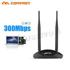 COMFAST 300 Mbit USB 2.0 Wlan WiFi Stick Adapter MIMO 2T2R Omni SMA+ 2XAntenne