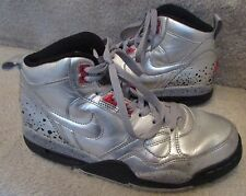 Nike Air Flight 13 Mid Sample Sneakers Shoes Size 7 Metallic Silver