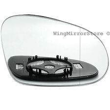 Right Driver side clip on heated wing door mirror glass for VW Passat B6 2005-10