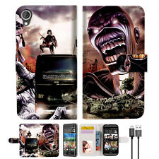Iron Maiden Wallet TPU Case Cover For Desire 820-- A014