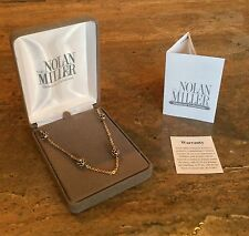"""NOLAN MILLER SPARKLING GLAMOUR COLLECTION """"SIMULATED SAPPHIRE NECKLACE GORGEOUS!"""