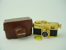 Golden Ricoh 16 Steky Subminiature Spy Camera w/ Riken 2.5cm F3.5 Lens & Case