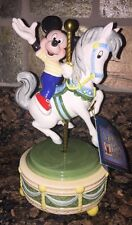 Disney Mickey Mouse Club March On Carousel Horse Magic Kingdom Music Box Schmid