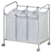 3 sacs sections heavy duty linge trieur chariot salle de bain neuf compartiments tri