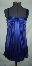 My Michelle Small royal blue satin club party bubble dress