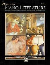 Discovering Piano Literature Book 1 Song Book Piano Solo Sheet Music Songbook
