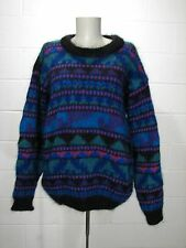 Vintage 90's ICELANDIC DESIGN Sz S Mohair Chenille Wool Sweater